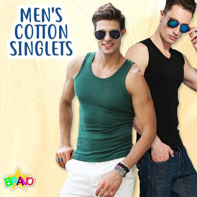 b8b193f60cd18 ☆SALES☆ Man Cotton Singlets Men Sleeveless Tanks T-shirts