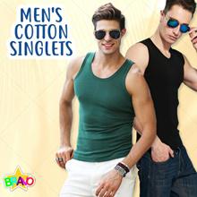 Man Cotton Singlets Men Sleeveless Vest T-shirts Singlet T-shirt