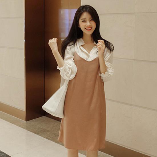 ミミ・アンド・ディディdriver ops5083 綿ワンピース/ 韓国ファッション