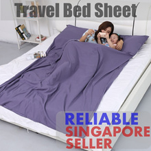 ⭐BESTSELLER⭐Travel Sleeping Bedsheet Single/Super Single Hygienic Sheet | Soft Korean Cotton