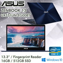ASUS Zenbook 13 UX331UN-EG008T / Fingerprint Sensor / i7 / Windows 10