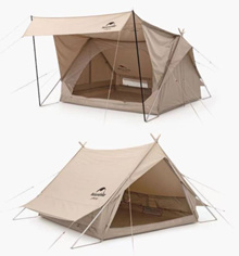 Nature Hike Emotional Camping Cotton Cotton Tent Brighton Extend 4.8 Shelter NH20ZP011