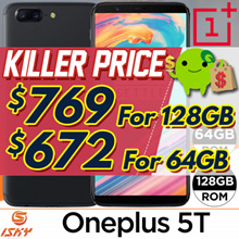 Latest Oneplus 5T Smartphone / 128GB|64GB ROM / 8GB|6GB RAM / Export Set with Warranty