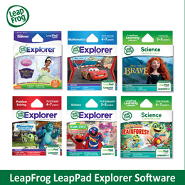 LEAPFROG Explorer Software - This is available as a cartridge or as a download in the LeapFrog App Center. [Over 20 choices]