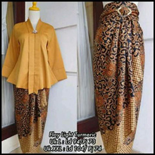 SB Collection Stelan Tops Kebaya Gustia Blouse Shirt And Lilit Skirt Batik Wanita