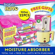 Thirsty Hippo Dehumidifier Moisture Absorber Buy 14 Free 2. FREE PowerPac/MyChoice 0.7L Multi Pot + Airwick Starter Kit