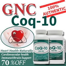 [FreeGifts][Qprime][GNC Heart Health] CoQ-10 50mg/100Mg 60/120 Softgels