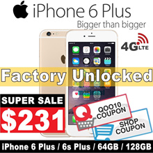 (MAKE $231 )iPhone 6 plus / 6s Plus / 64GB 128GB / Unlocked / Condition:9.9/10 / Refurbished Set