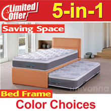 5 in 1 Single Bed with Pull Out Bed * Color Choice * Spring Mattress * Saving Space * Free Delivery