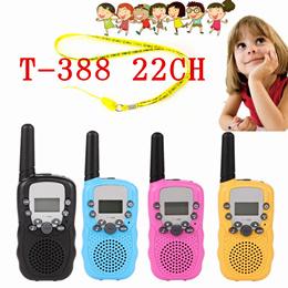 2台T388迷你对讲机/便携式手持收音机/儿童家长游戏对讲机/双向对讲机