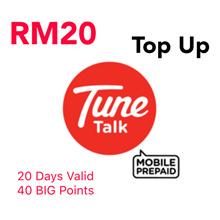 RM20 Tune Talk / Tone Excel / Tone Plus Instant Top Up