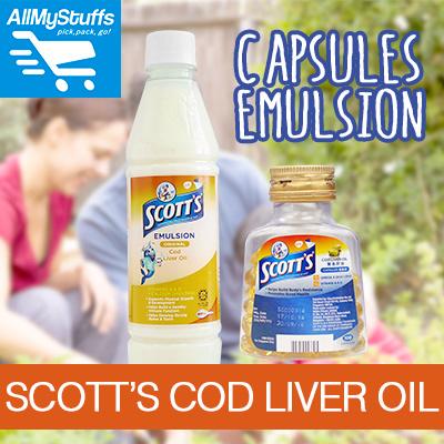 【SCOTTS】Cod Liver Oil Emulsion 400ml Original / Pure Cod Liver Oil 100 Capsules