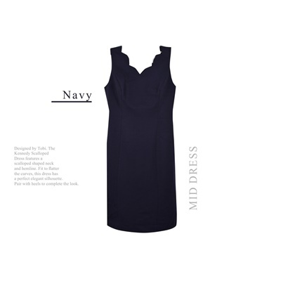 TALBOTS DRESS TOP NAVY