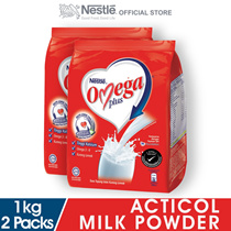 NESTLE OMEGA PLUS Milk Powder Soft Pack 1kg x2 packs