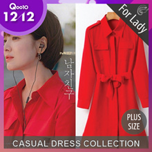♥Free Gift♥11st Dec Update ♥Korean Style♥ Linen / Casual / LOOSE Fit / Dress / Plus Sizes / Encounter Dress