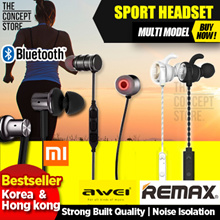 2018 Sales! Korea bestselling earphone!Bluetooth Wireless sports earphone Remax AWEI Xiaomi