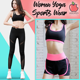 Korean Style Women Yoga Sports wear Long/Short sleeves Top Shorts/Pants Sports Bra