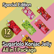 ONLY Qoo10 Limited Edition Sugarlolo Konjac Jelly All in 1 Package-12packs / Low Calorie
