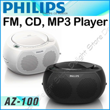 ◆Philips AZ-100 AZ-329 FM CD Radio Player Micro System Boombox