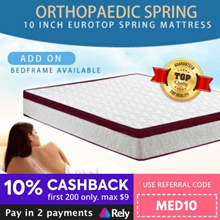Medellin® [Bonnell Spring] 10inch EuroTop Spring Mattress | Single Super Single Queen King |
