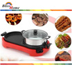 [READY STOCK] BBQ Steamboat 2 in 1 Korean Electric Pan Grill Combination ~Local Seller~Fast Delivery~ Stimbot Elektrik
