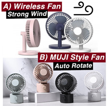Portable Cordless Desk Fan♥Muji Style Mini Table Air Circulator♥USB Rechargable♥2019 Improved♥