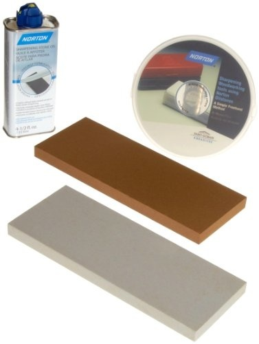 Qoo10 - Norton Oilstone Sharpening Kit: 1) 8 x 3 Medium
