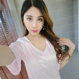 Summer silk nighty women sexy Korean Princess clothing cute dress with  short sleeves 2017 package ma ac3b68779ca9