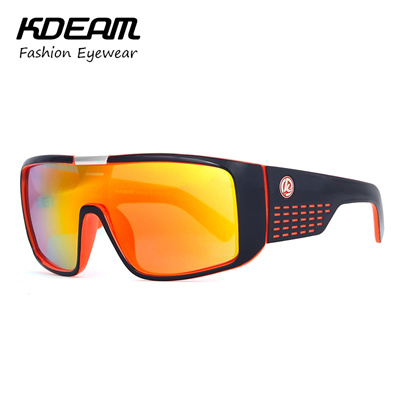 1ea95e68aec 2018 Cool Brand Men Sport Goggle UV400 Sunglasses Big size Sports Sun  Glasses KDEAM Windproof Glasse