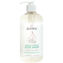 Furashi Natural Children's Body Wash Watermelon & Sea Salt Sulfate Free Kids Soap 355ml
