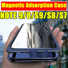 NEW Metal Magnetic Adsorption Case For Samsung Galaxy S10 S8 S9 Plus Note 8 9 S7 S7 Edge