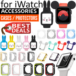 Apple watch series 4 3 2 1 accessories case tempered glass screen protector charger stand holder
