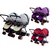 Baby Double Stroller Twins Stroller 2-Way Travel Baby Stroller Lightweight Foldable Stroller