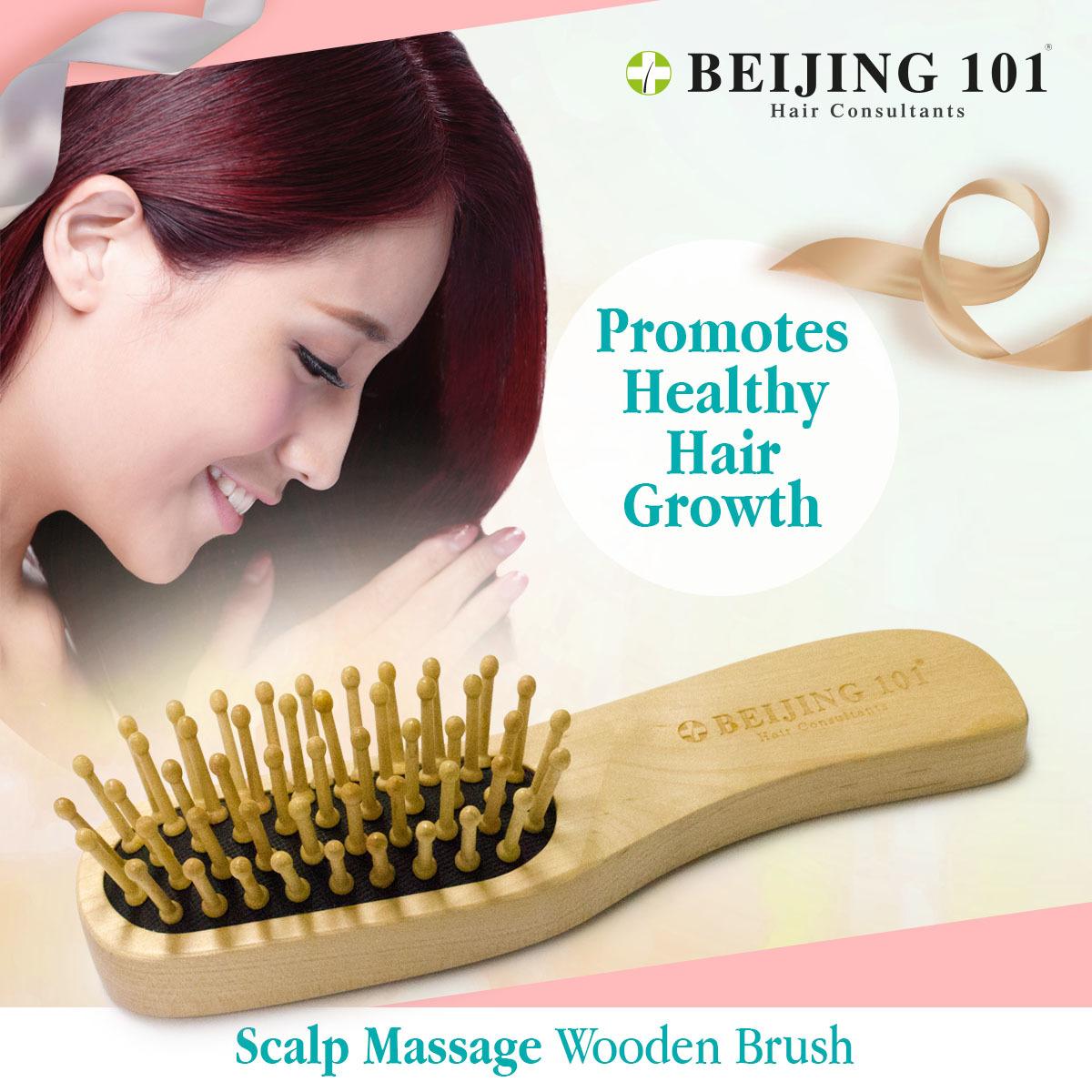 Qoo10 Massage Wooden Brush Hair Care