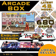 [TV-BOX SG] LOCAL SELLER. Latest 4S Arcade Box. TV Arcade Game Joystick Controller Games Console.