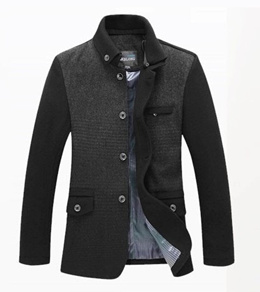 5b27c3985f Mao Nenan trench coat single breasted Korean cultivating coat male mens  jacket wool coat