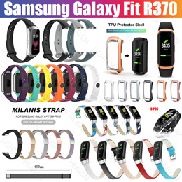 Samsung Galaxy Fit SM-R370 2019 Strap case screen protector metal leather Straps Accessories