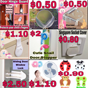 CHILD BABY SAFETY PLUGS SOCKETS COVERS CORNER PROTECTORS STRAP LOCKS DRAWERS CUPBOARDS DOOR STOPPERS