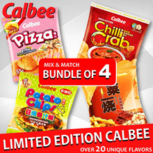 【New Flavours 2018】BUNDLE of 4 PROMO!! Limited Edition Imported Calbee Snacks!