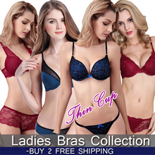 BUY 2 FREE SHIPPING!!!~ NEW ARRIVAL Lingerie Bra 70A~100F Big size big cup VS PUSH UP Thin cup