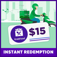 $15 GRAB FOOD VOUCHER | INSTANT REDEMPTION