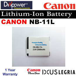 Canon NB-11L Lithium-ion Battery for Powershot IXUS Camera by Divipower