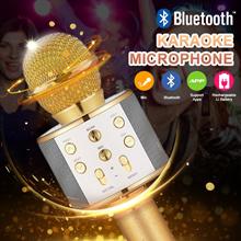 ⚡Big-Sale⚡Child Gift 🎁Q7/Q9/WS-858 Wireless Bluetooth KTV Karaoke Microphone USB KTV Speaker