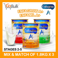 APPLY $30 Q10 COUPON!! *SG Official stock* Mix n Match Of 3 Tins* Enfamil A+ / Enfagrow A+ (1.8 kg) / Stage 2 - Stage 5
