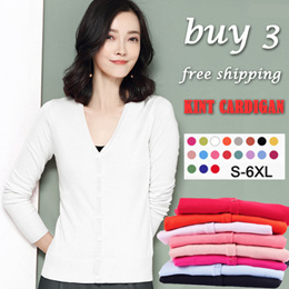 ★ S - 6XL ★ KNITTED CARDIGAN ★Women Cardigan Sweater knit shawl t shirt hoodie cardigans scarf 针织