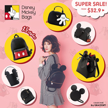 Gracegift-Disney Mickey Family Bags/Handbags/Shoulder Bags/Backpacks/Pouch/Women Bags