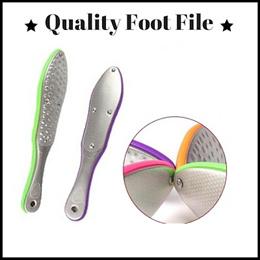 [KOREAN DESIGN] Foot File | 2 sided Coarse n Fine | Stainless Steel | Durable | Long Lasting Wet Use