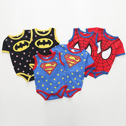 2947526013dd3 2018 Summer Newborn Baby Boys Girls Clothes Superman Batman Spiderman Baby  Rompers Cotton Short Slee