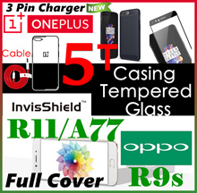 Oneplus 5T♥5♥Oppo R11s♥R11s Plus♥R9s♥Plus♥Oneplus 3T♥Tempered Glass Screen Protector♥Full Cover♥Case