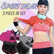 3 pcs Yoga Set / Sports Set / Running Attire Lowest price Runing set sports bra+pants+T-shirt  3pcs